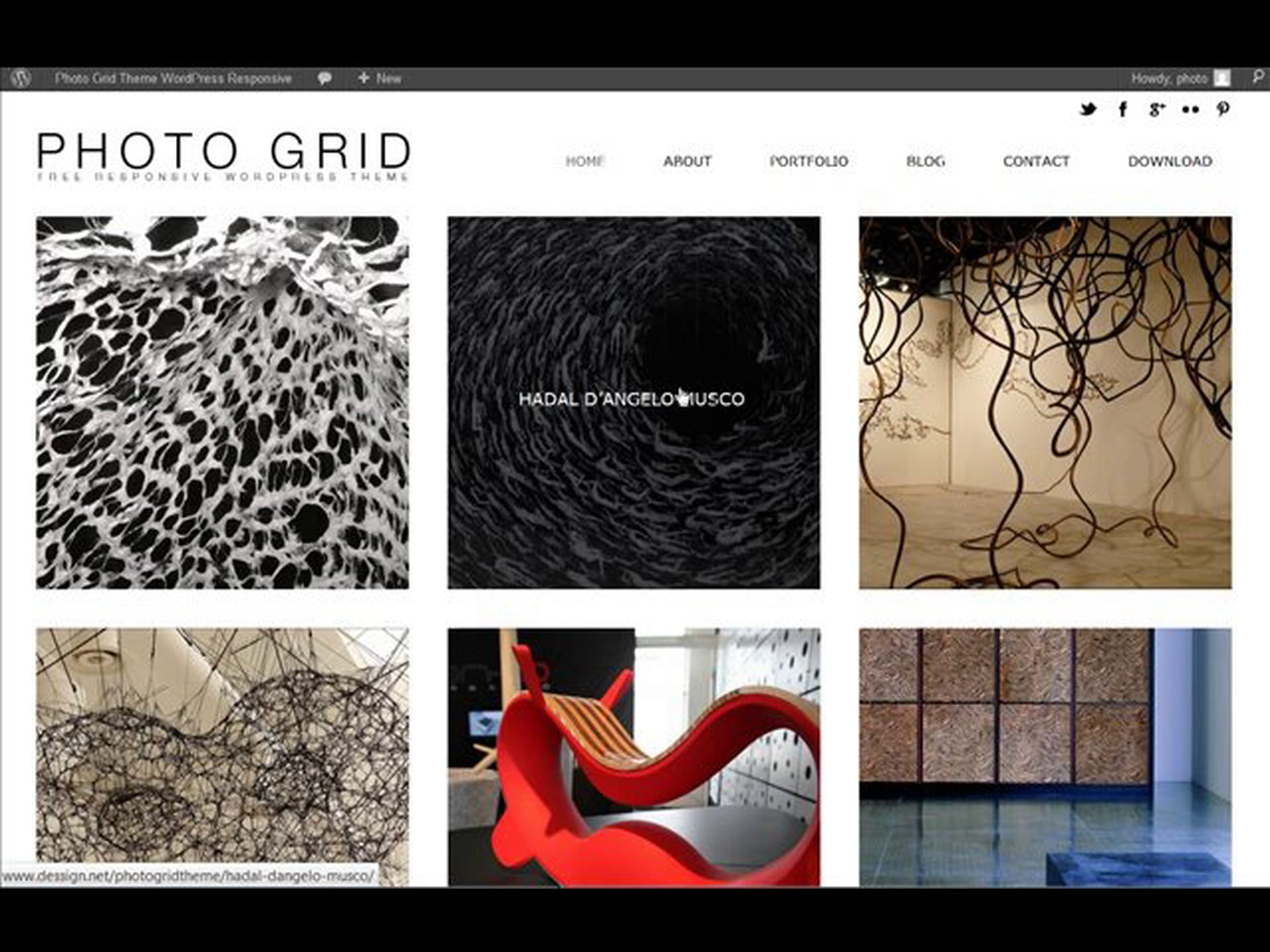 PhotoGrid Responsive WordPress Theme