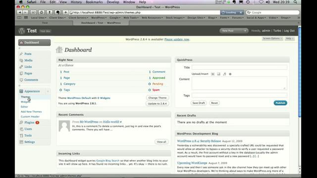 WordPress from scratch : Part 2
