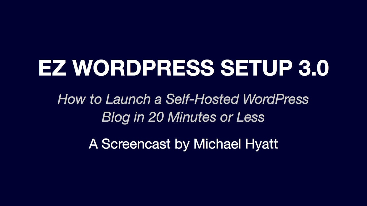 EZ WordPress Setup 3.0