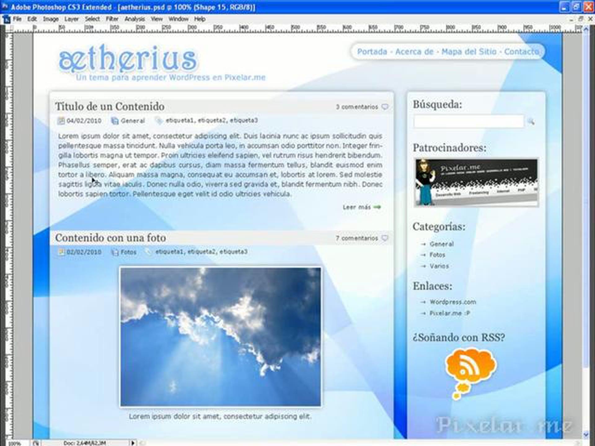 Maquetando un theme de WordPress
