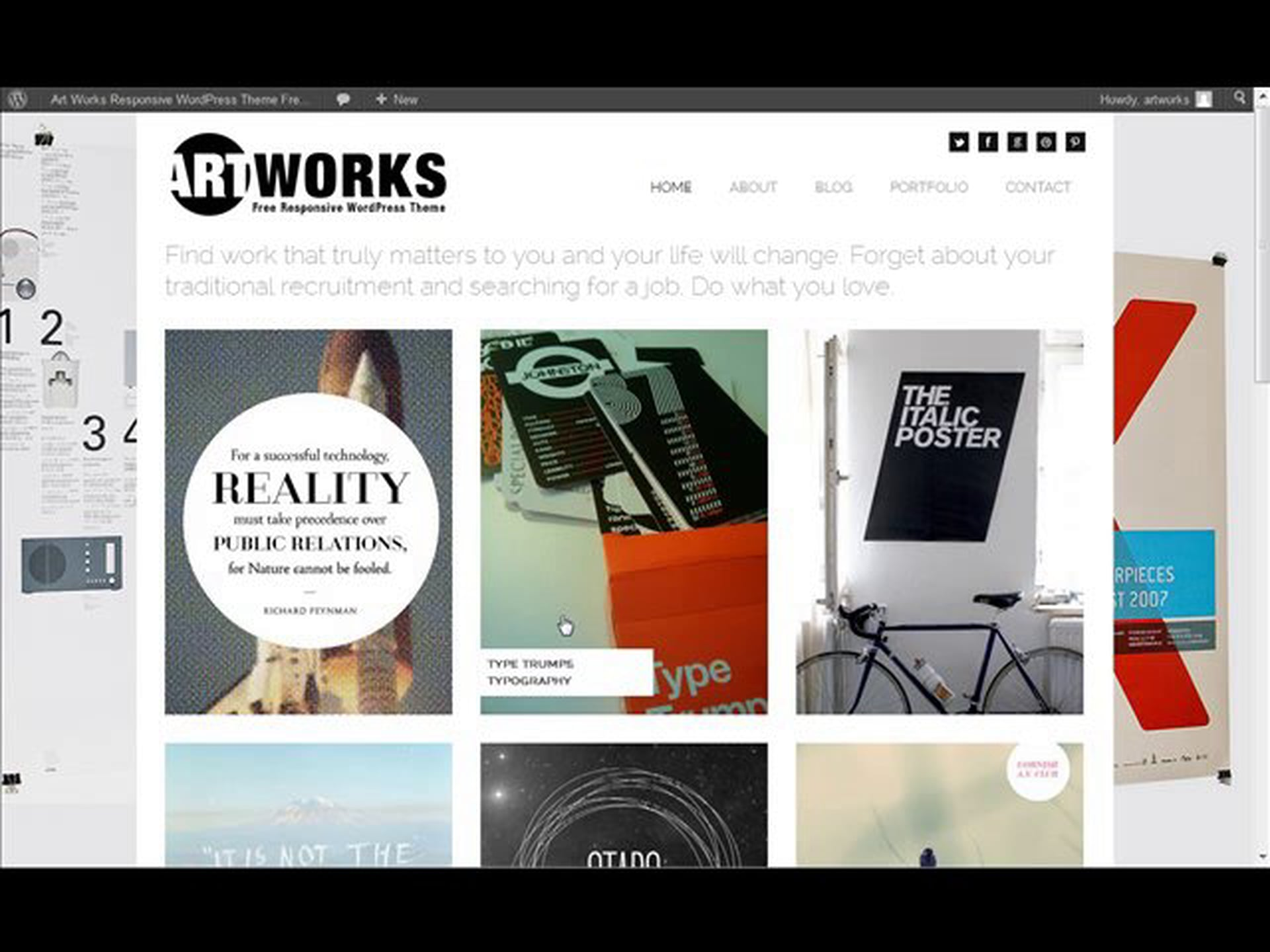 Art Works Responsive Free WordPress Theme