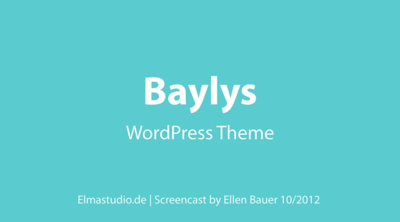 Baylys WordPress Theme (english)