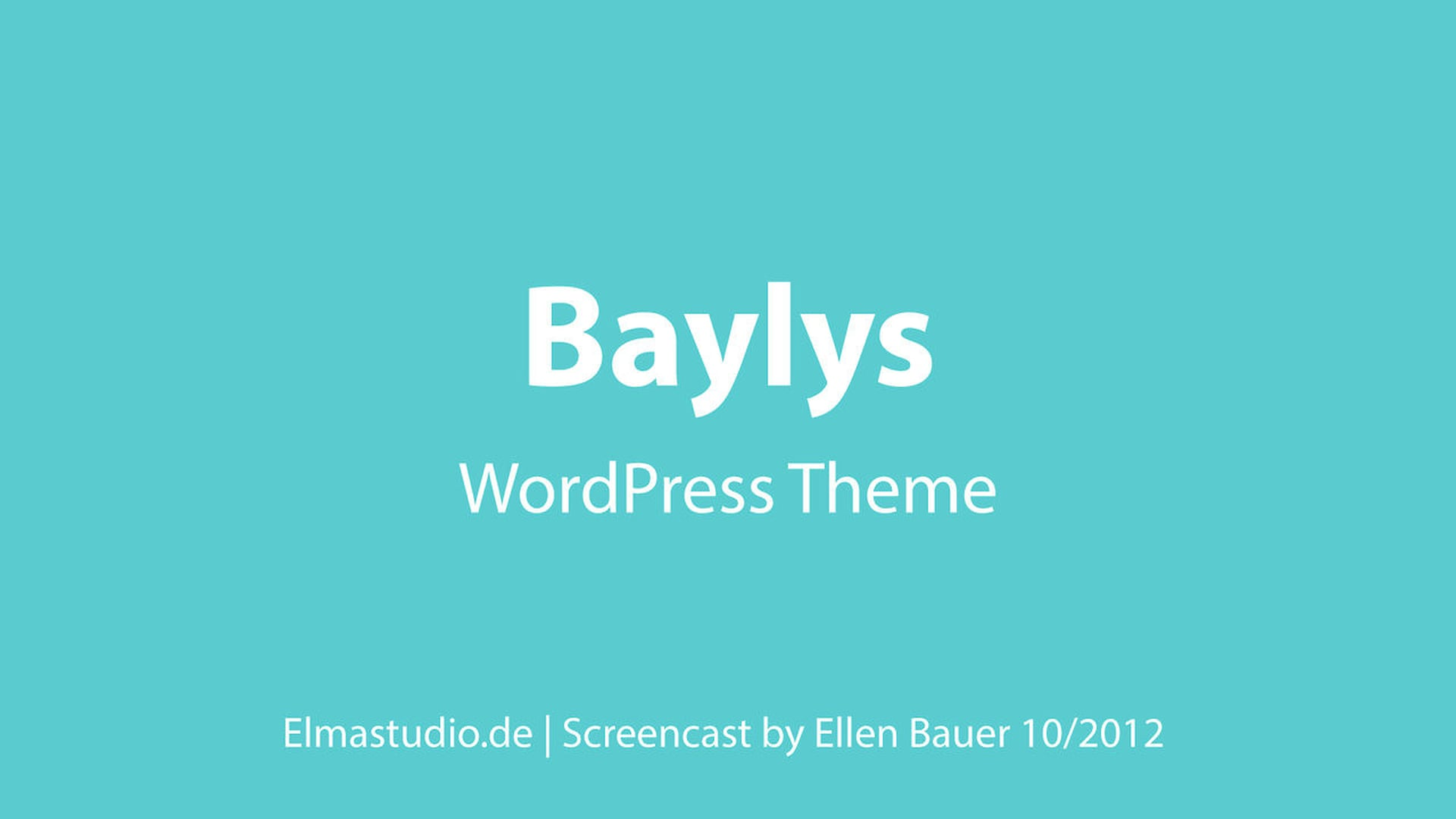 Baylys WordPress Theme (english)