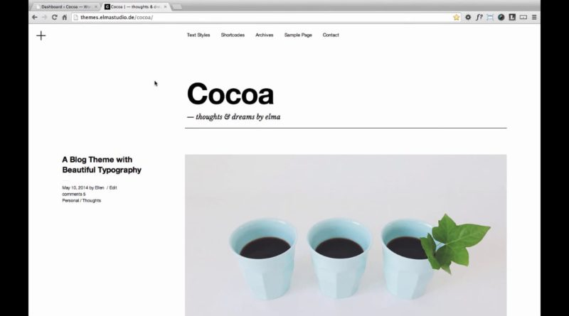 Cocoa WordPress Theme (en)