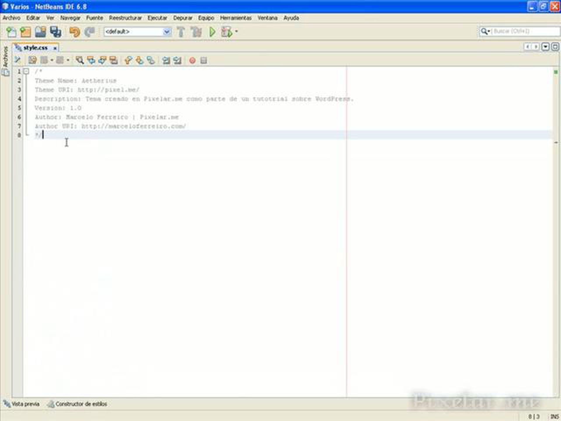 Integrando un theme en WordPress