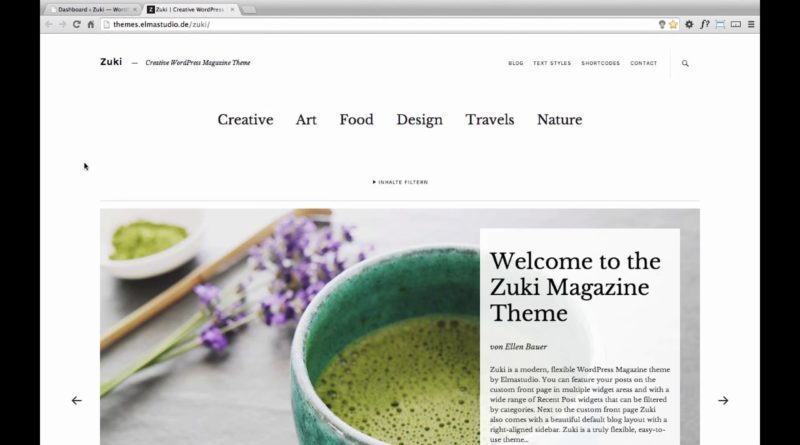 Zuki WordPress Theme (de)