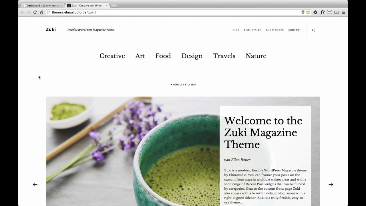 Zuki WordPress Theme (de)