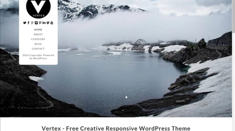 Vertex Responsive WordPress Theme