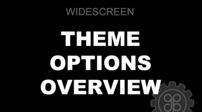 Widescreen theme for WordPress