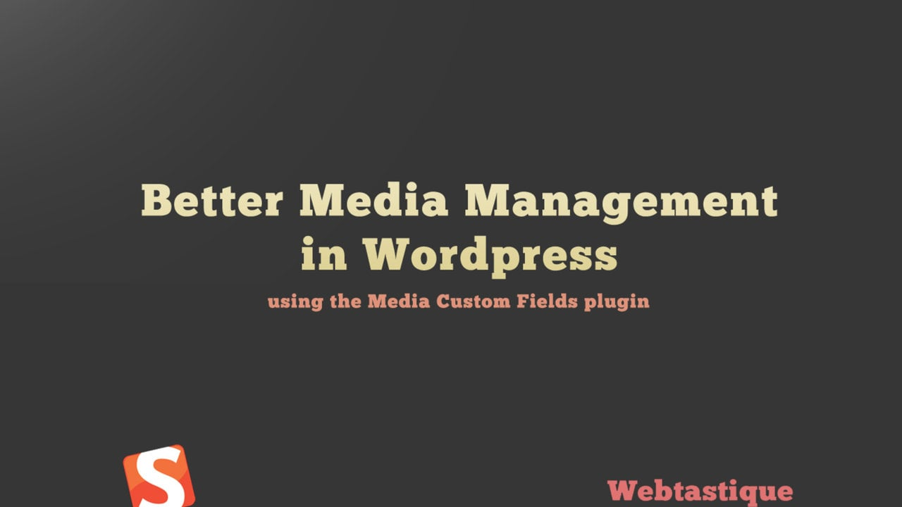 Better Media Management with WordPress using The Media Custom Fields Plugin