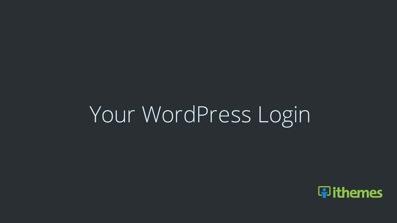 Your WordPress Login