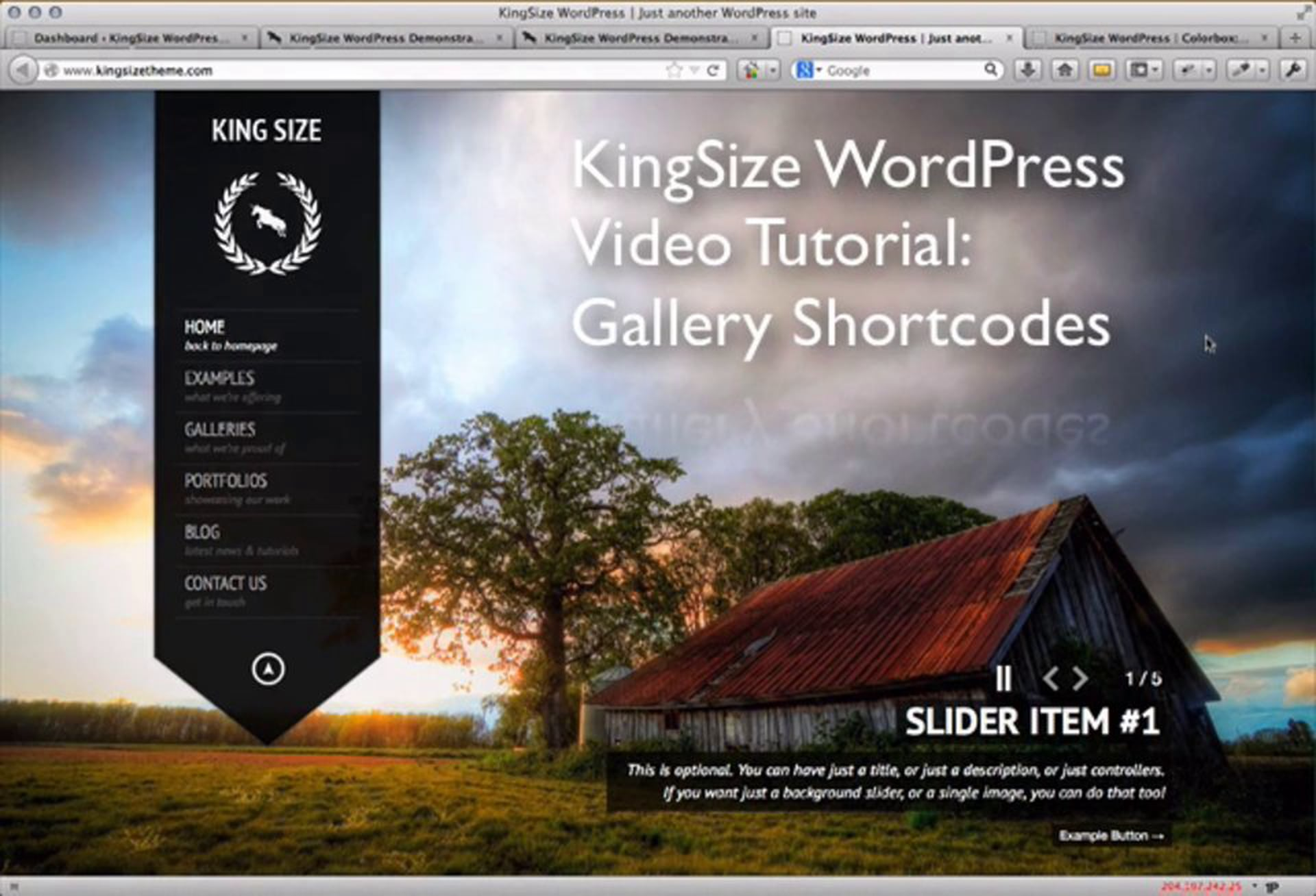 7. KingSize WordPress: Creating Galleries with Shortcodes