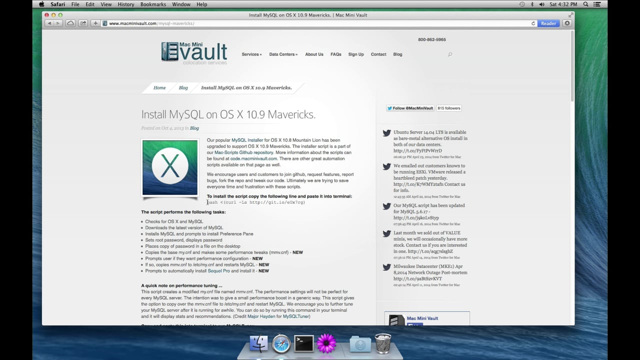 How To Install WordPress On Mac OS X Mavericks