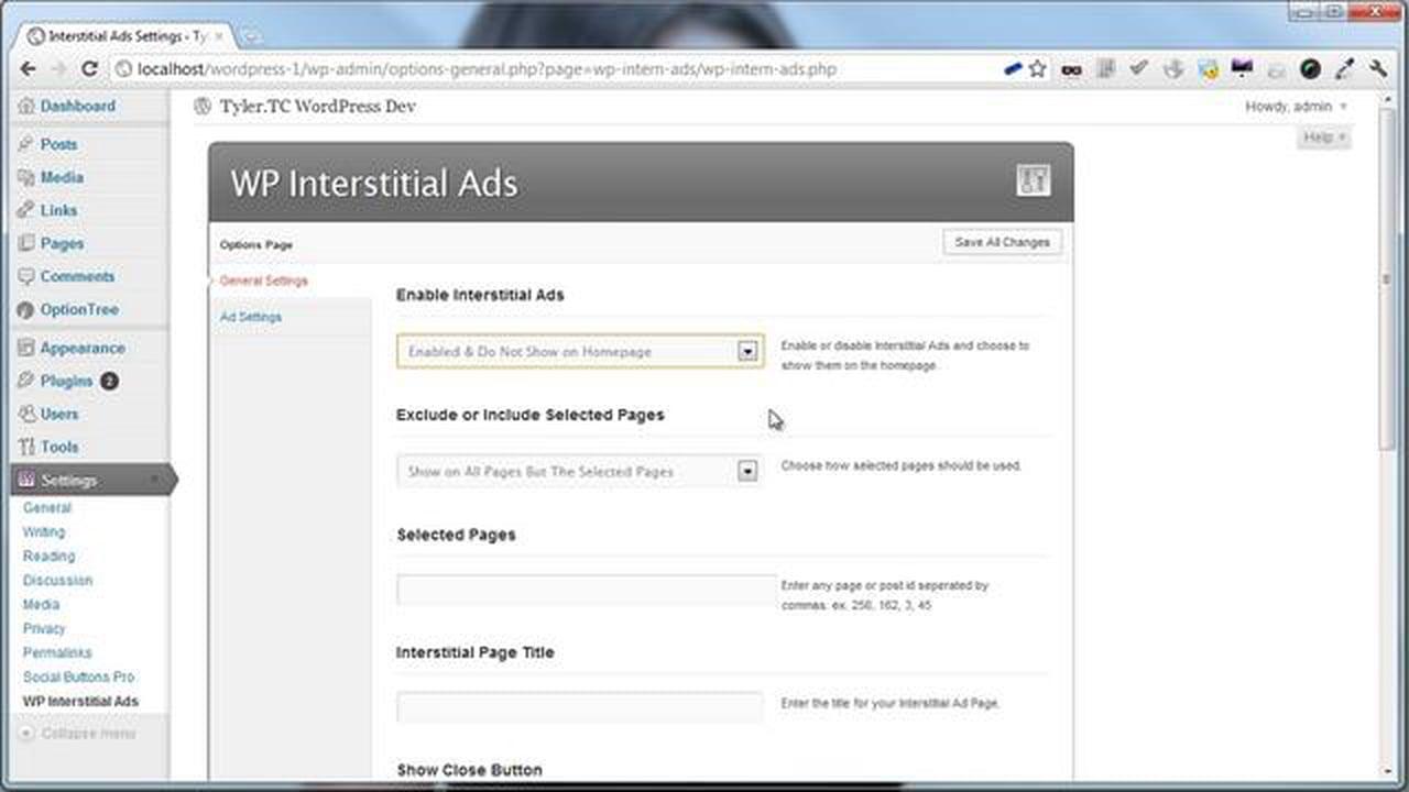 Interstitial Ads for WordPress