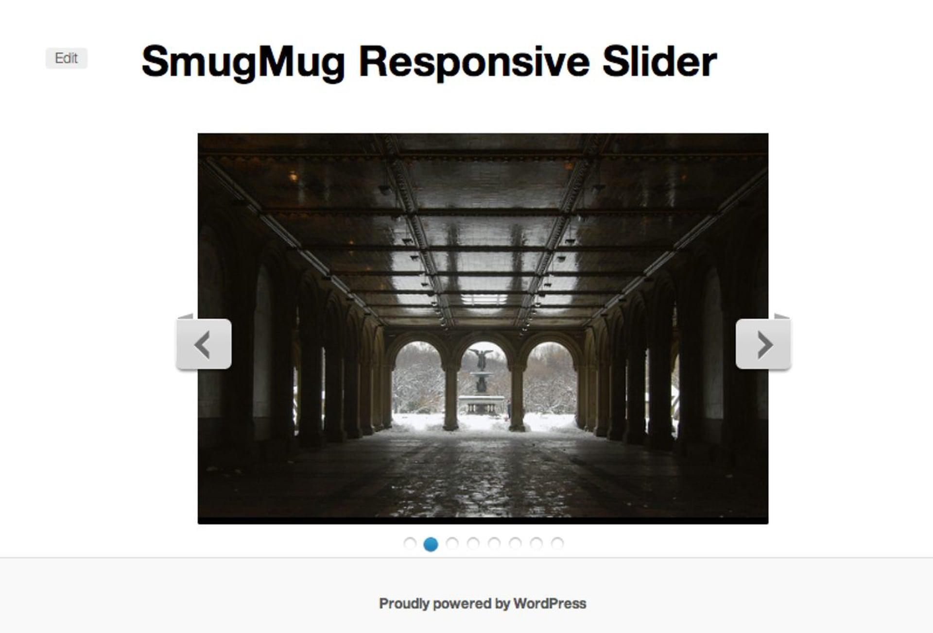 WordPress SmugMug Slider