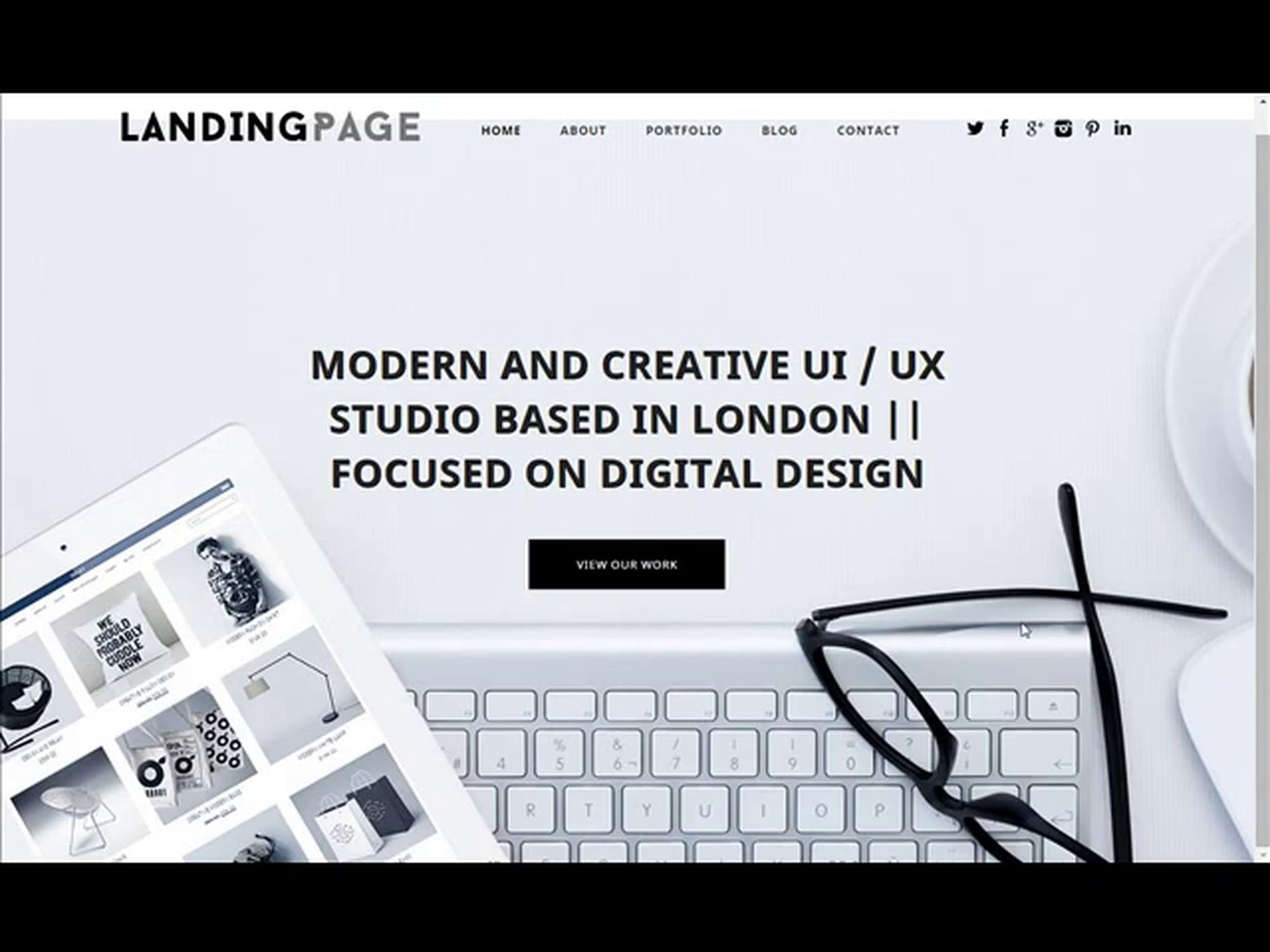 Landing Page Responsive WordPress Theme