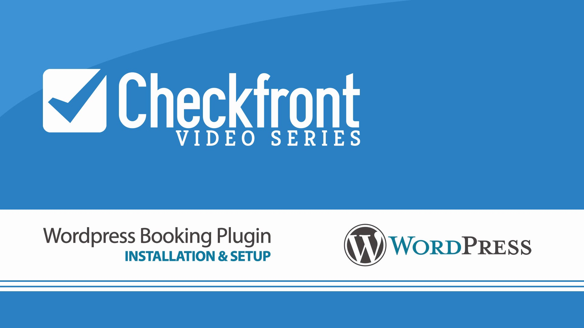 WordPress Booking Plugin for Checkfront