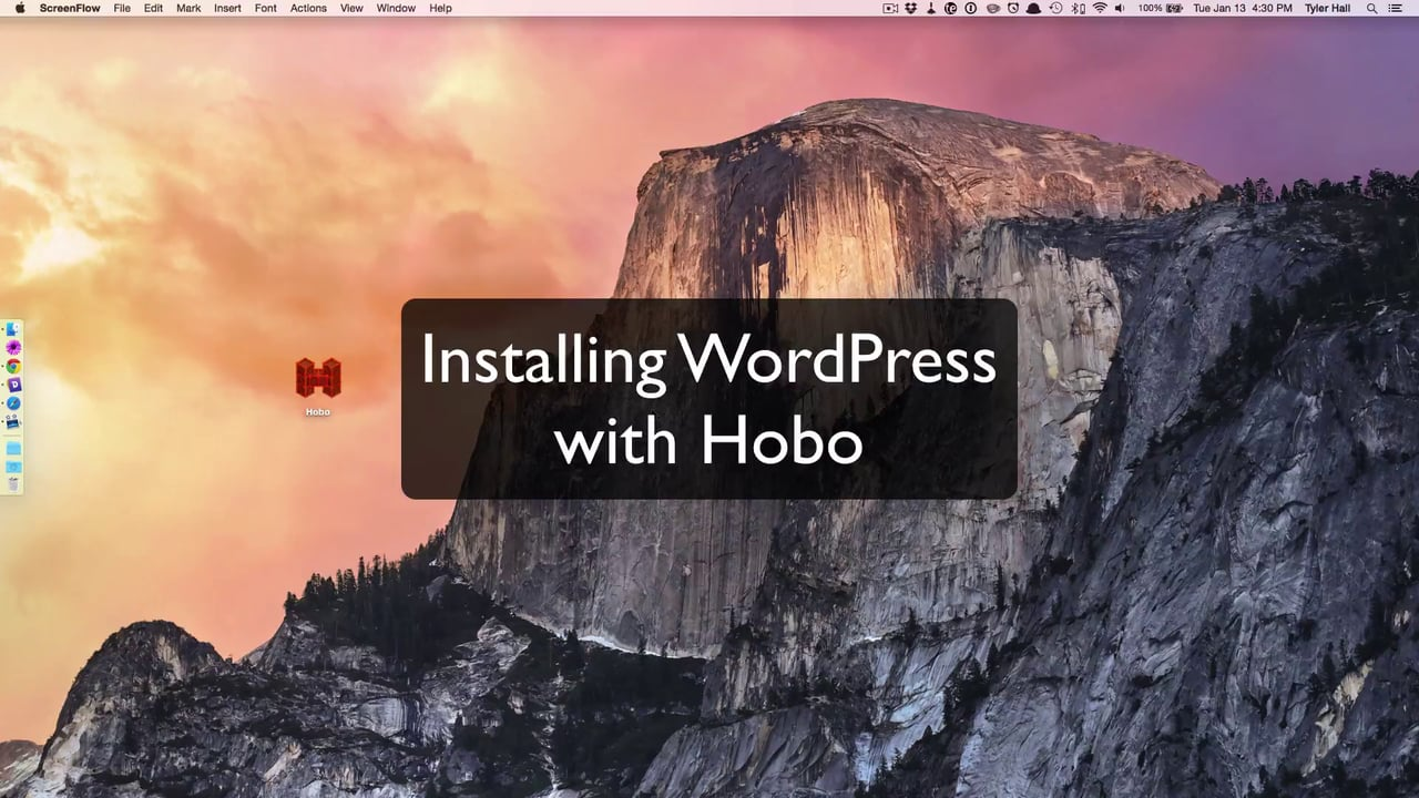 How To Install WordPress Using Hobo