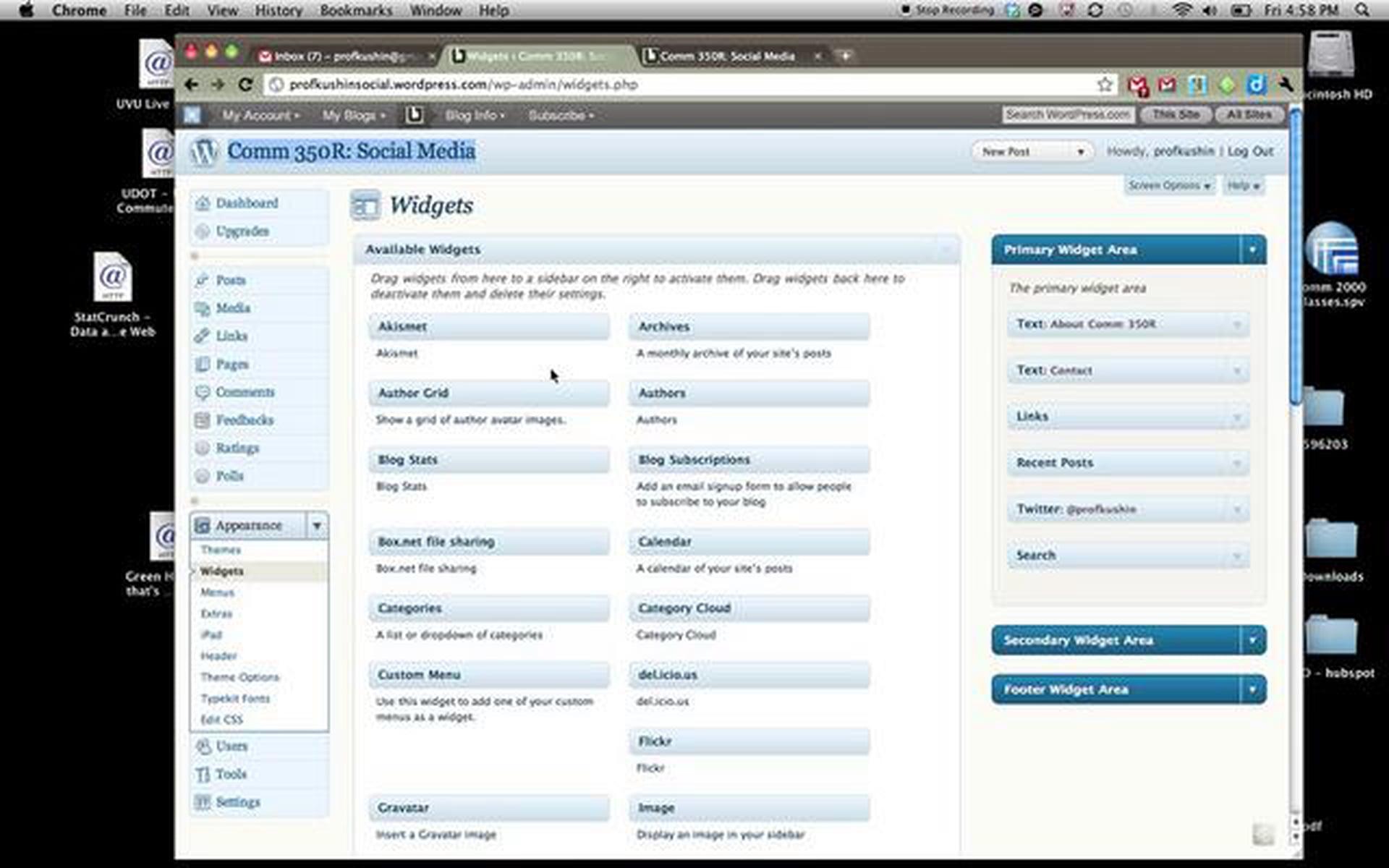 WordPress – Widgets