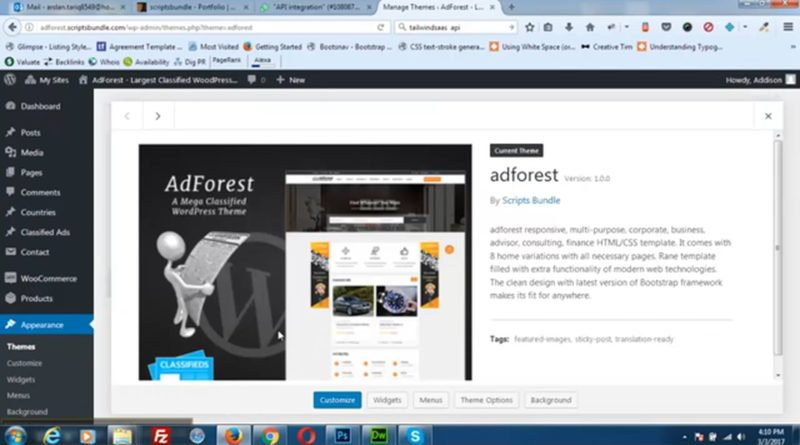 Classified ads wordpress theme options-Adforest – WordPress Initiate