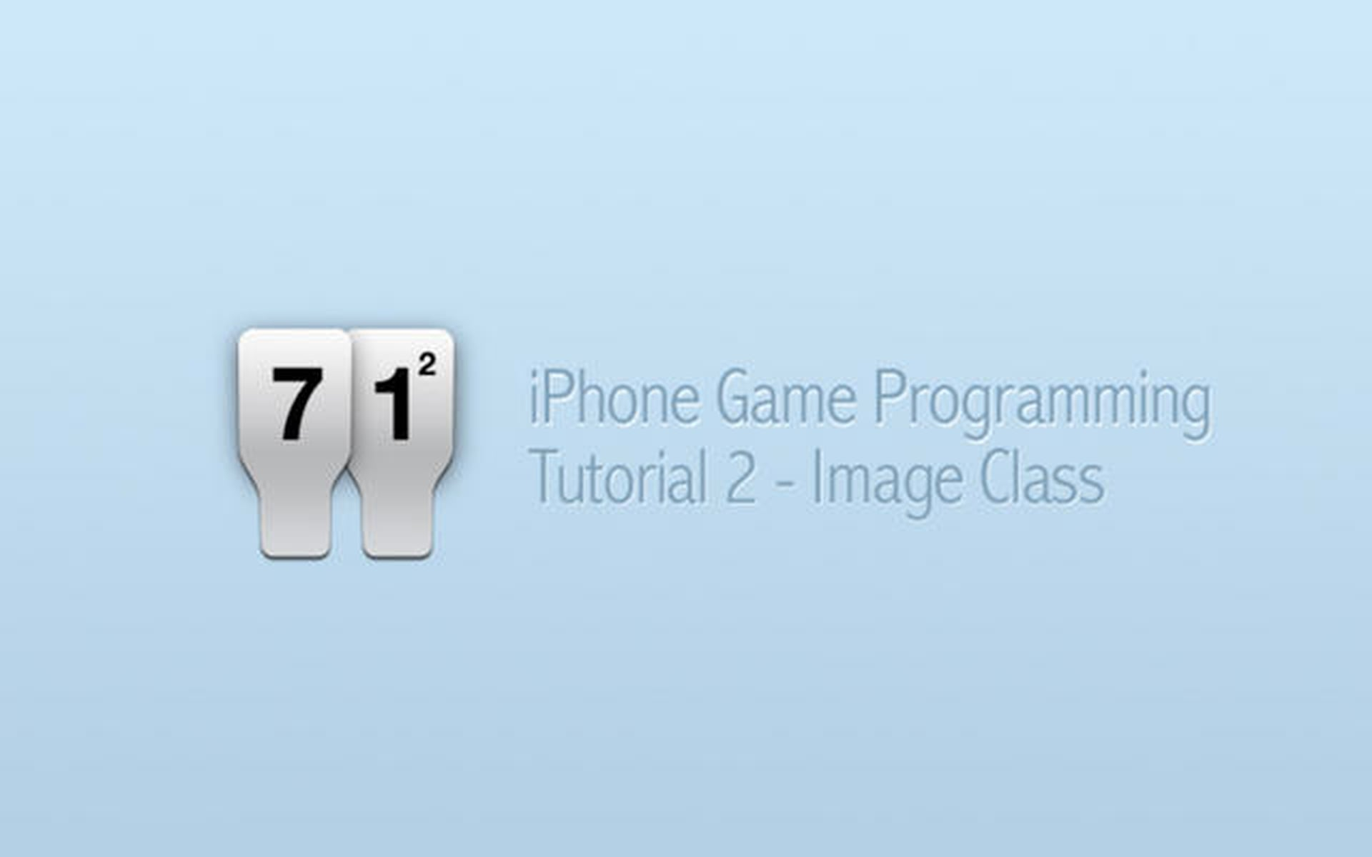 iPhone Game Programming – Tutorial 2 – Image Class