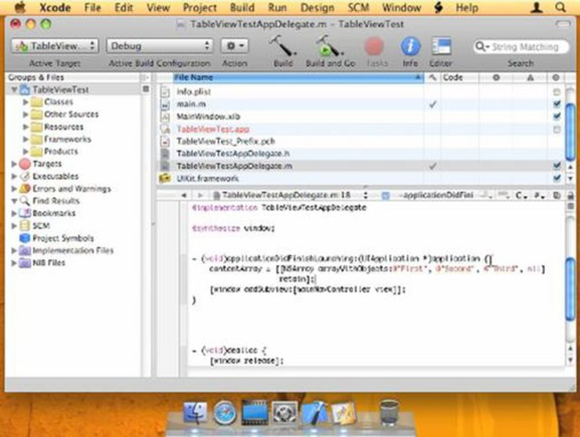 UITableView iPhone Programming Tutorial