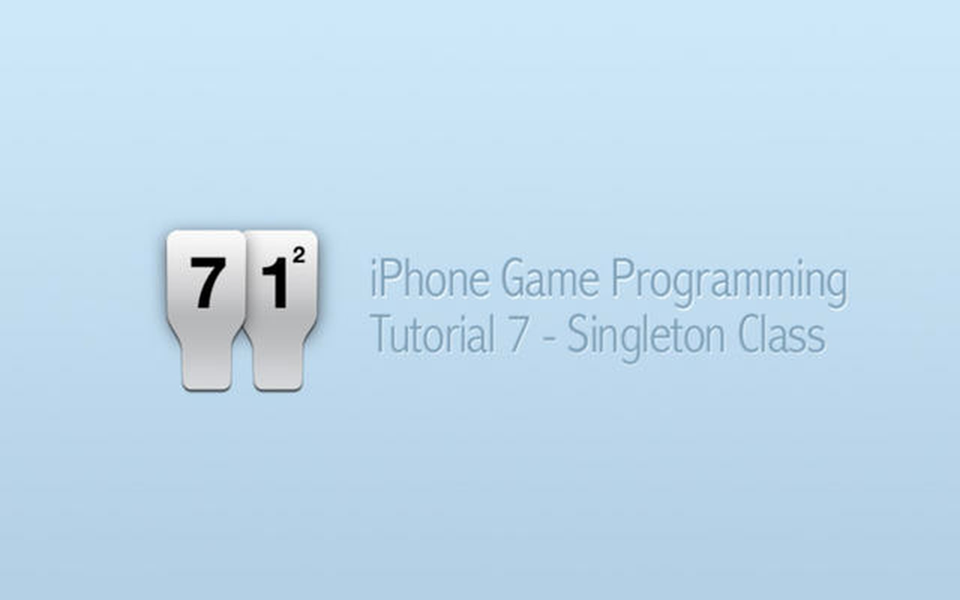 iPhone Game Programming – Tutorial 7 – Singleton Class
