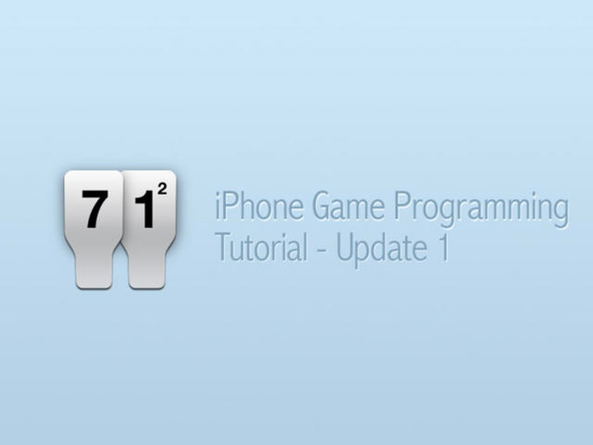iPhone Game Programming – Tutorial Update 1