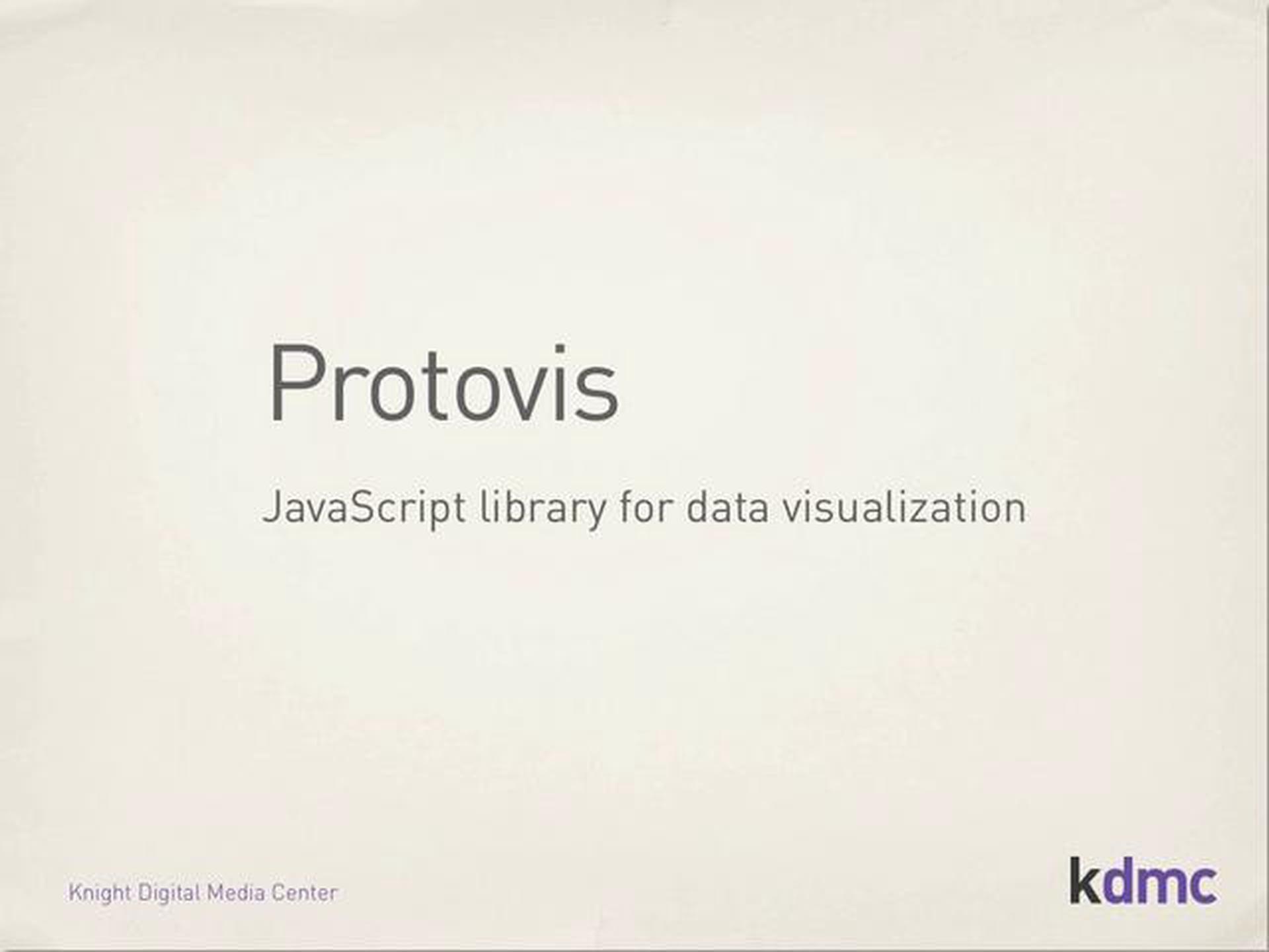Protovis JavaScript Library Tutorial – Part 1
