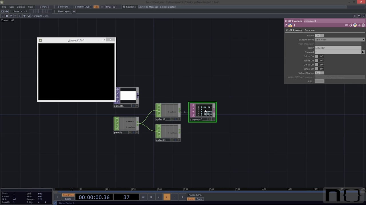 "Video Switcher tutorial from ""An Introduction to TouchDesigner"""