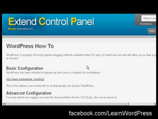 Learn WordPress – How to install WordPress using cPanel