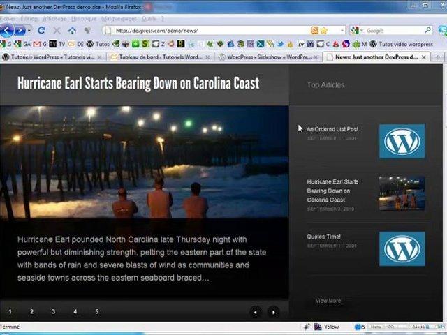 Installer le plugin Slideshow pour WordPress