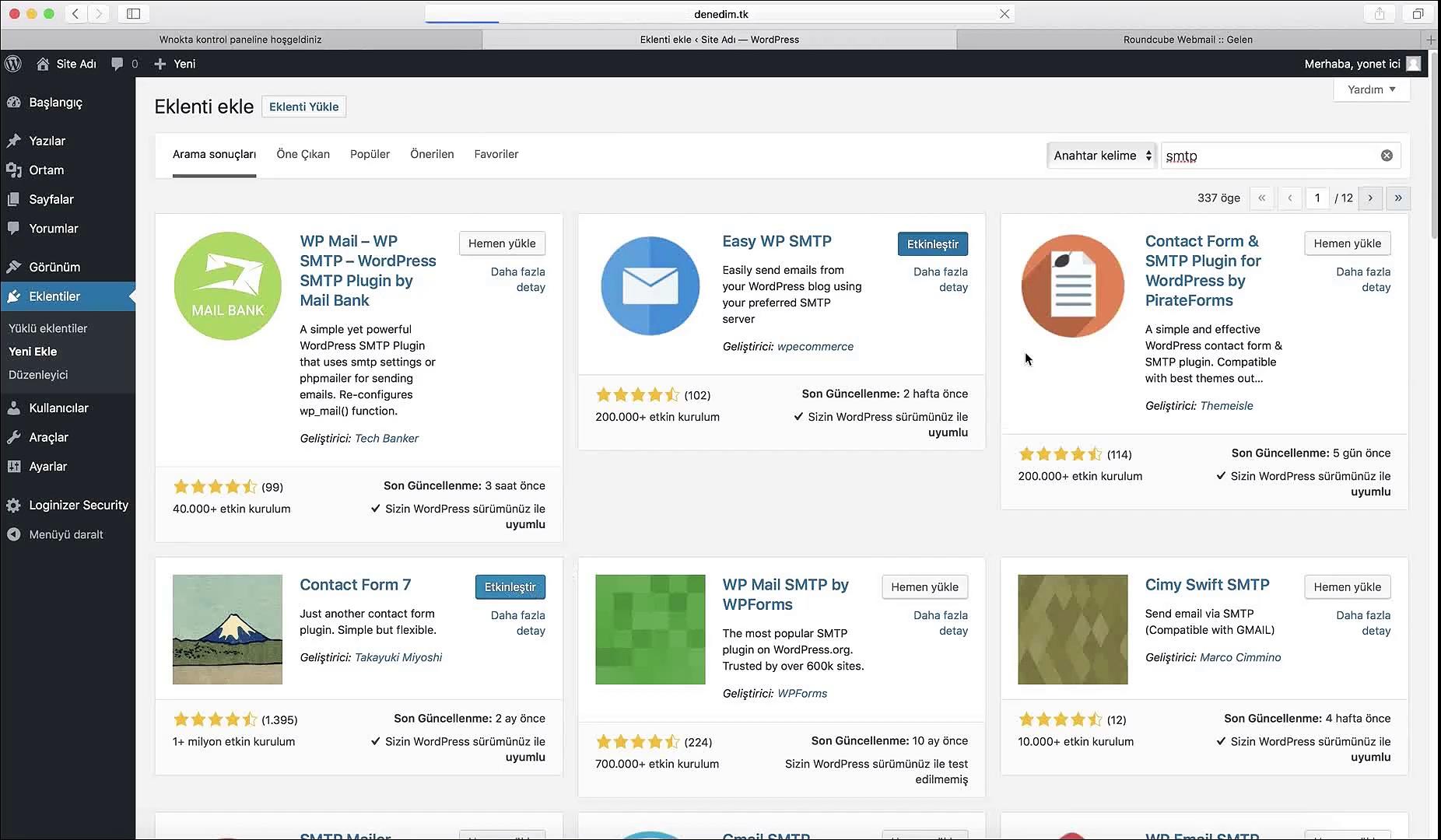 WordPress-iletisim-sayfasi