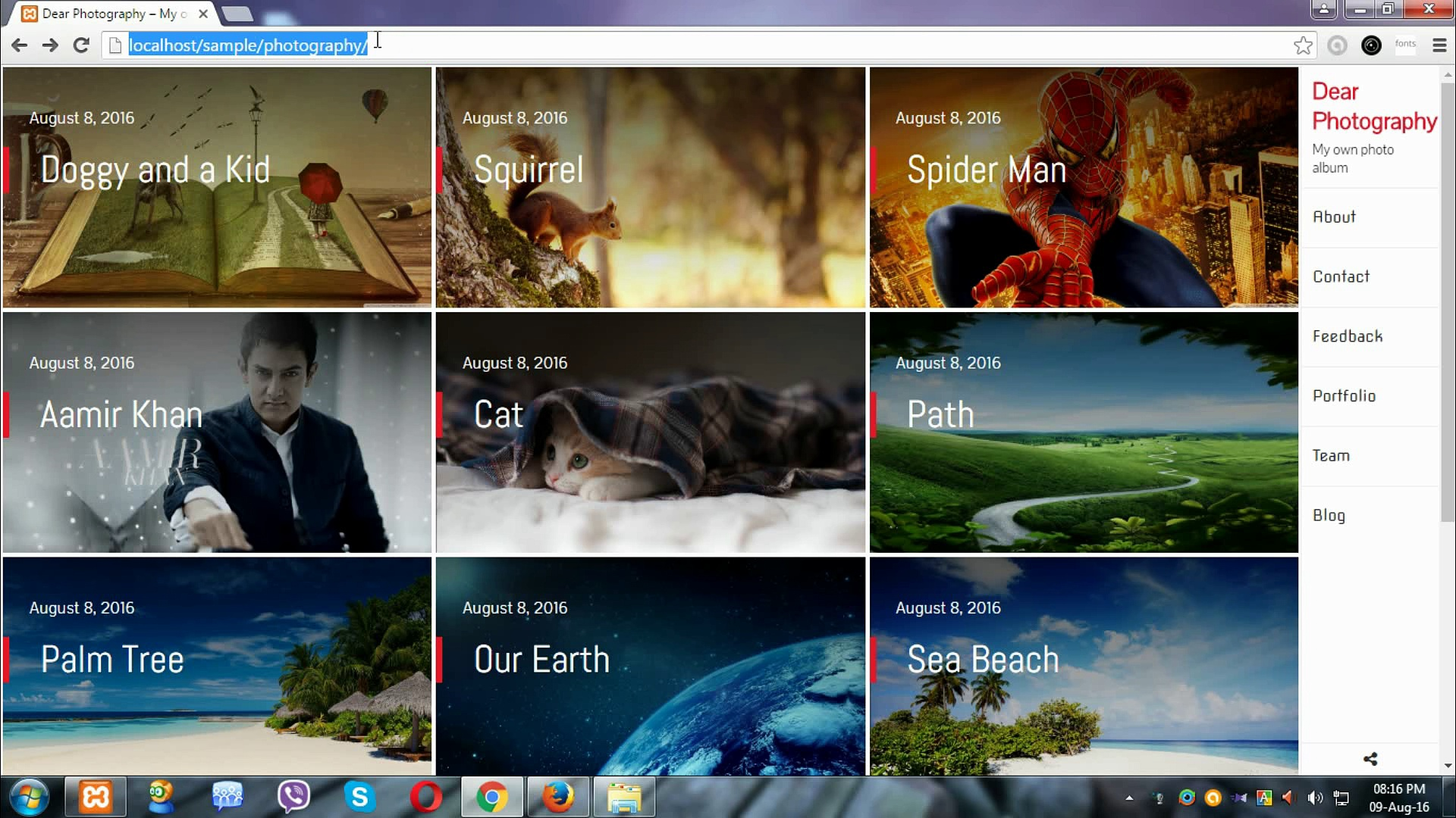 Responsive WordPress Theme for Photographer, 4