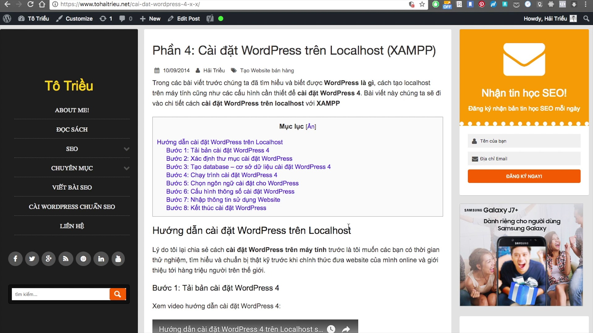 Cài WordPress trên Localhost với XAMPP | Học WordPress
