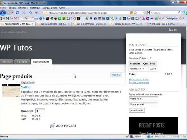 Créer un site e-commerce avec WordPress