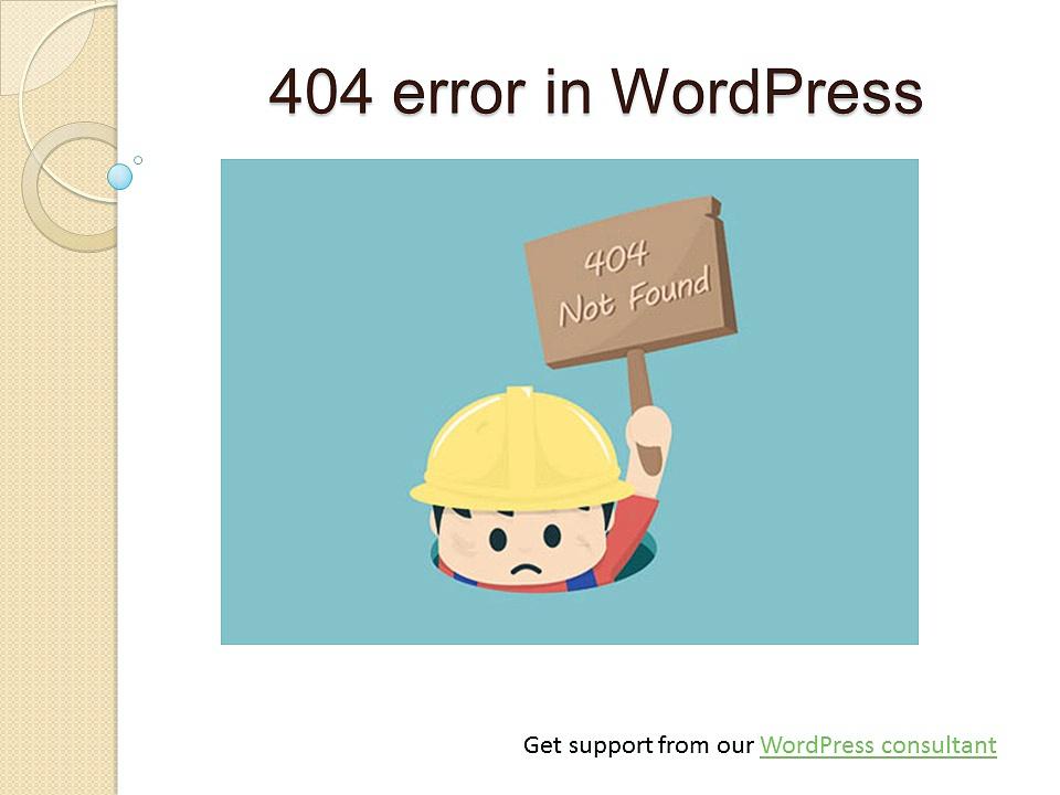 WordPress 404 error support