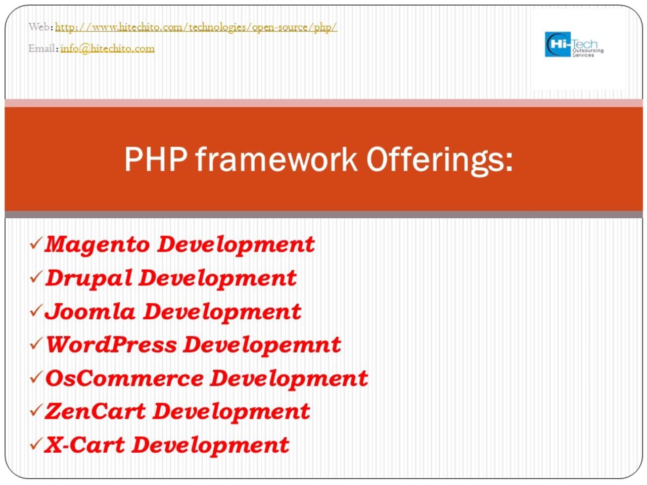Offshore PHP Development Services Company India | Hi-Tech ITO