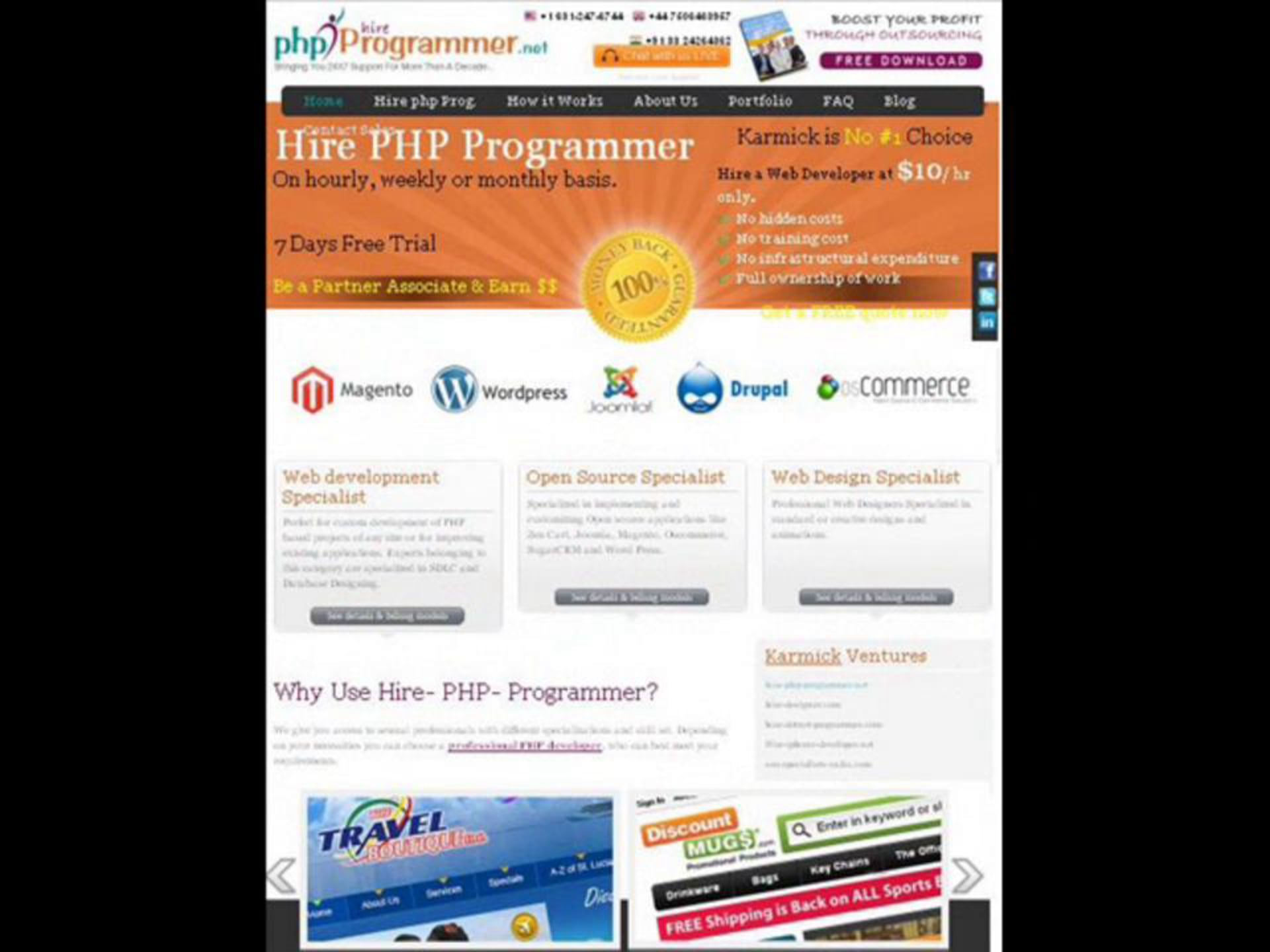 Hire PHP Programmer | Professional PHP Developer | Hire WordPress developer | Hire Joomla Developer