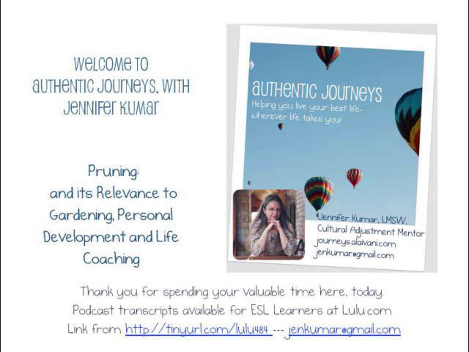 Pruning & Personal Development
