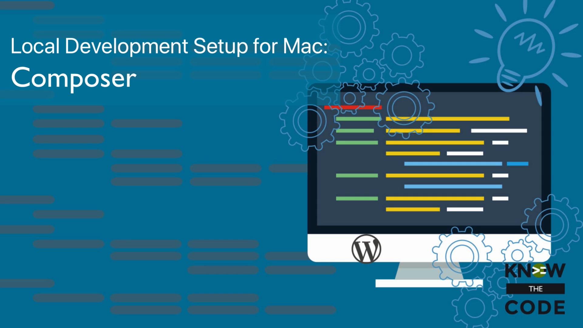 Composer – Local Development Setup for Mac