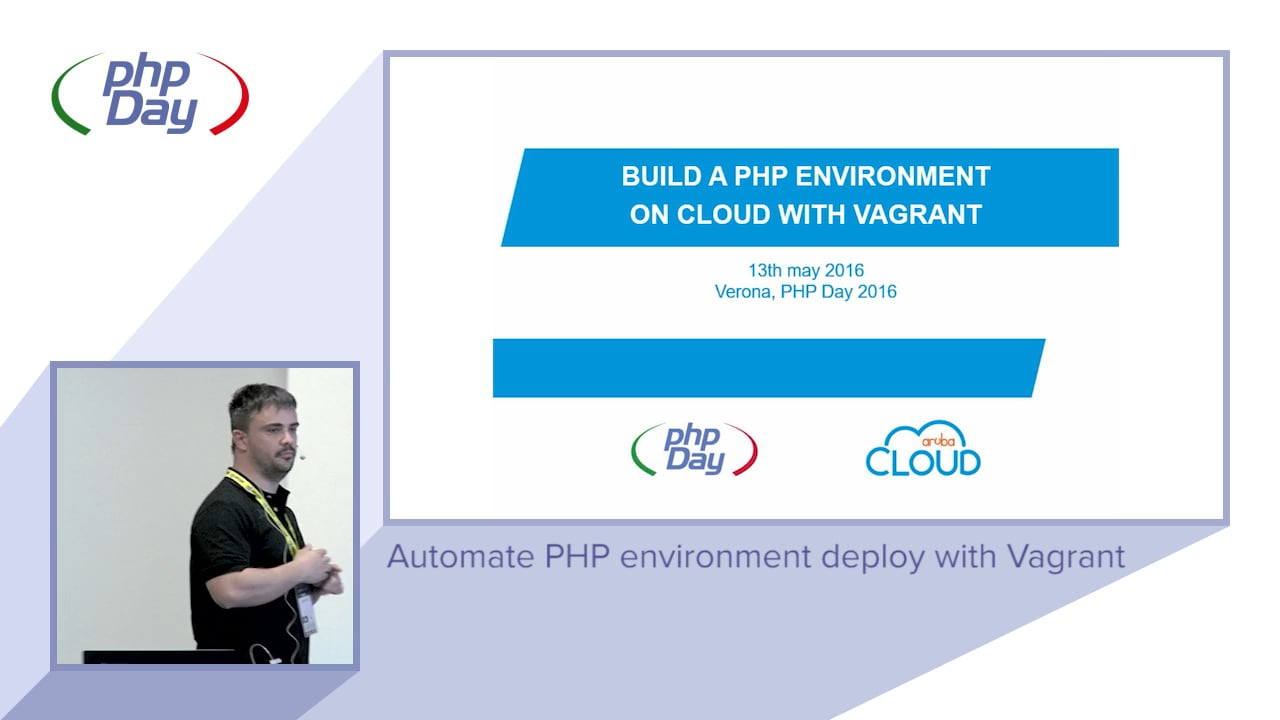 Alessio Rocchi – Automate PHP environment deploy with Vagrant – phpDay 2016