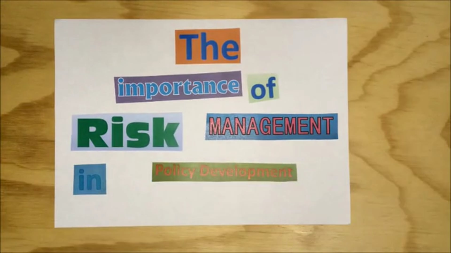 The Importance of Risk Management In Policy Development