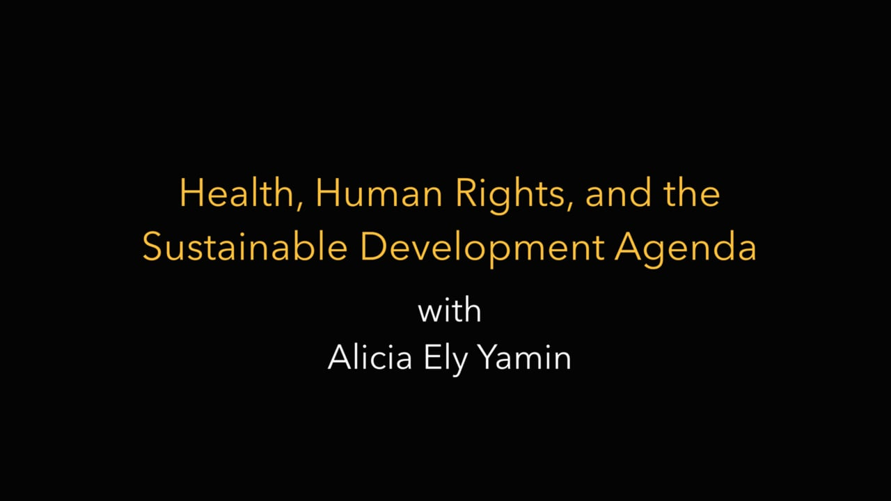 Health, Human Rights, and the Sustainable Development Agenda