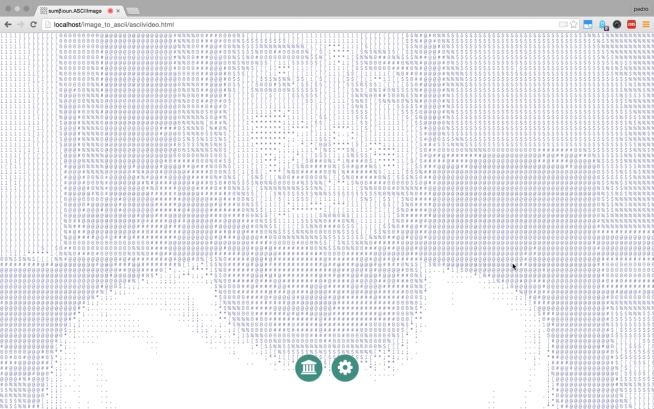 ASCII real-time video