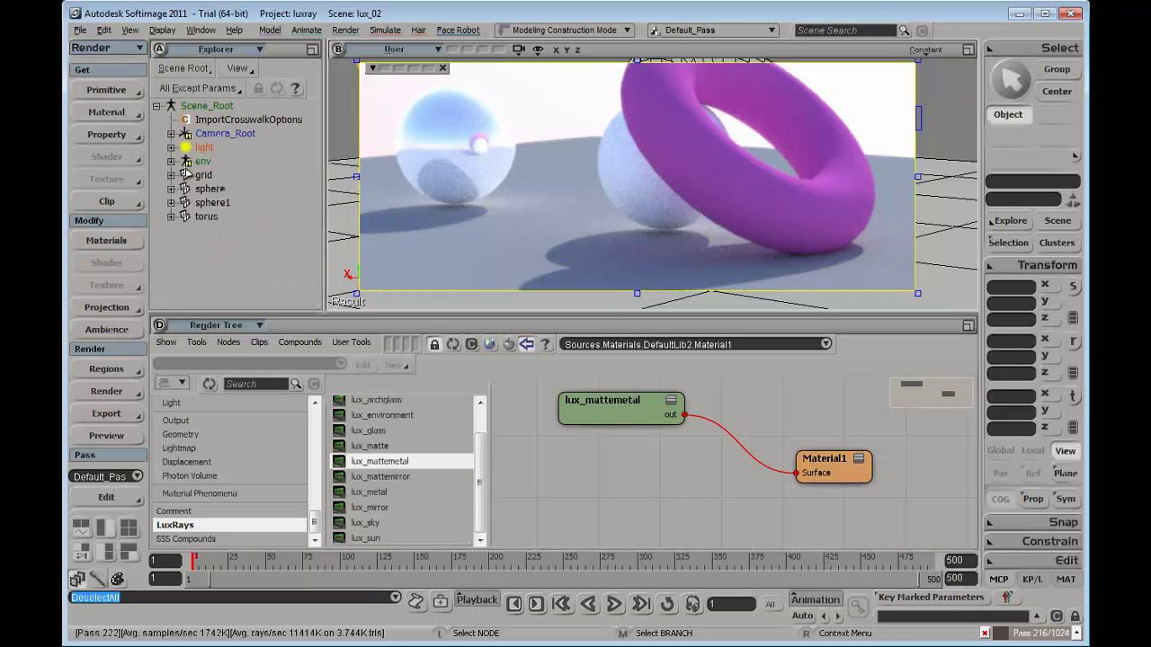 LuxRays renderer into Softimage