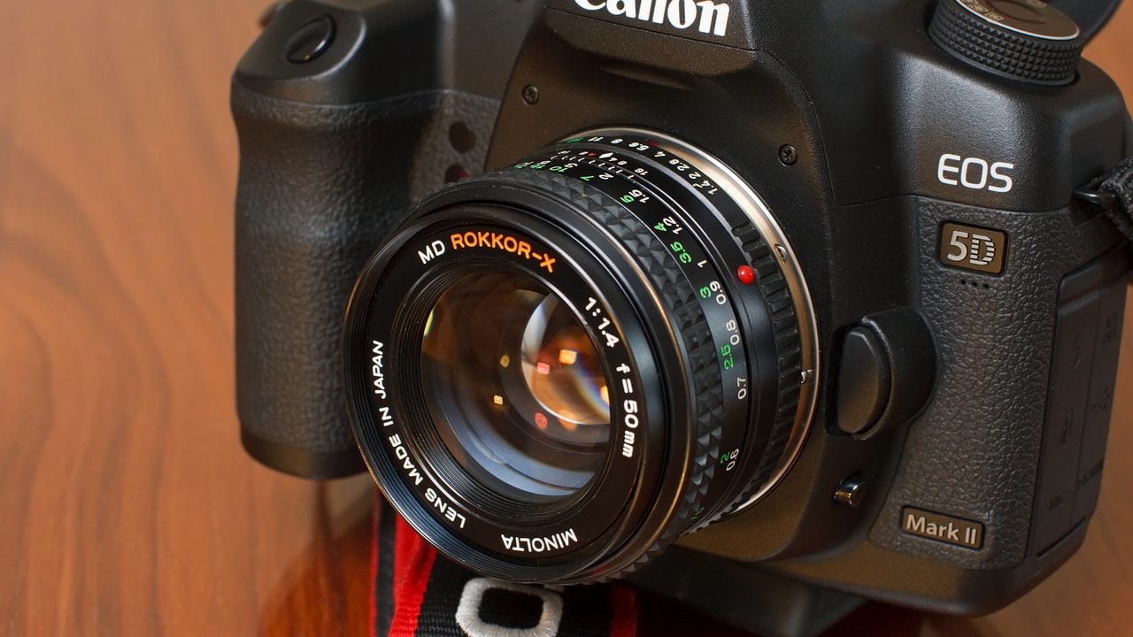 Minolta MD Rokkor-X 50mm f/1.4 conversion to Canon EOS
