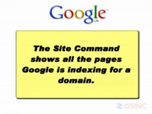 Search Engine Optimization Tutorial – Google Site Command