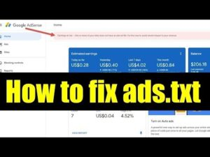 How to fix AdSense error – Earnings at risk! How to create ads.txt on Blogspot?