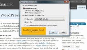 How to install WordPress video tutorial